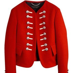 Burberry 2017 Red Wool Cropped Ceremonial Jacket
